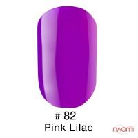Гель-лак Naomi 082  Pink Lilac яркий фиолетовый, 6 мл