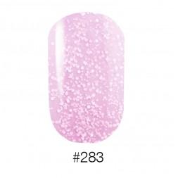 Лак Naomi 283 нежно розовый с вкраплениями, 12 мл