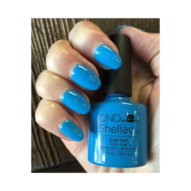 CND Shellac Art Vandal Digi-teal ярко-голубой, 7,3 мл, фото 2, 339.00 грн.