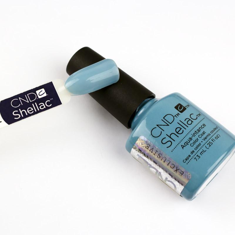 CND Shellac Flirtation Aqua-intance лазурно-голубой, 7,3 мл, фото 2, 339.00 грн.