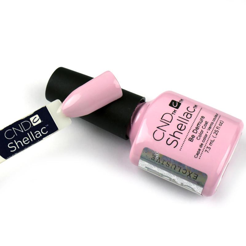 CND Shellac Flirtation Be Demure, рожевий, 7,3 мл, фото 2, 339.00 грн.