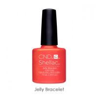 CND Shellac Jelly Bracelet оранжево-коралловый с перламутром и шиммерами, 7,3 мл
