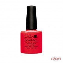 CND Shellac Rhythm & Heat Mambo Beat оранжево-коралловый, 7,3 мл