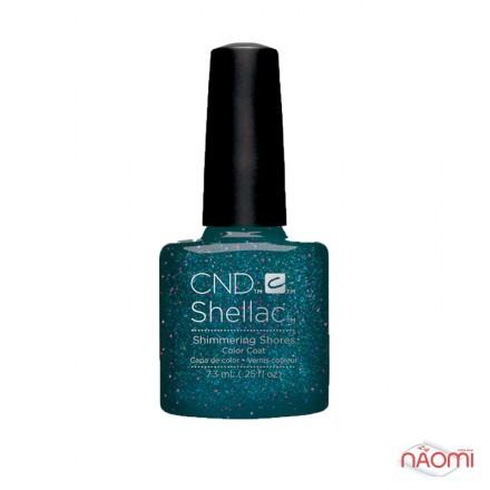 CND Shellac Rhythm & Heat Shimmering Shores морская волна с глиттером, 7,3 мл, фото 1, 339.00 грн.