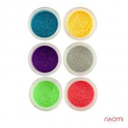 Глітерний пісок в баночці №1, Salon Professional, набір 6 шт.