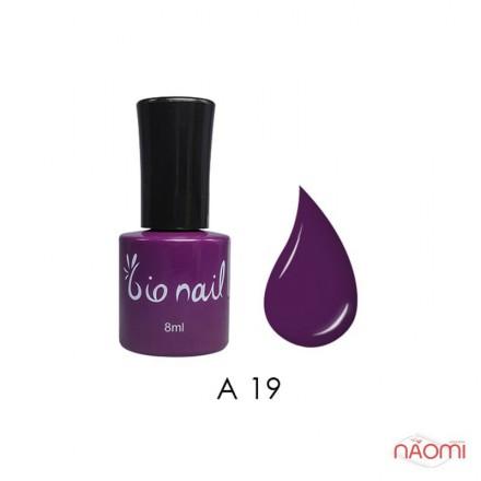 Гель лак BioNail A 019 Dark Violet темно-фиолетовый, эмалевый, 8 мл, фото 1, 194.00 грн.