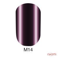 Гель-лак Naomi Metallic Collection M14 сливово-фіолетовий металік, 6 мл