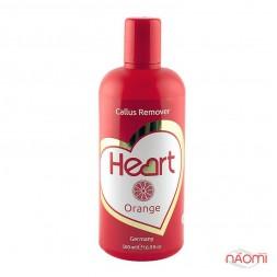 Щелочной пилинг для педикюра Heart Callus&Cuticle Remover Апельсин, 500 мл