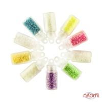 Набір декору для нігтів, пісок флуоресцентний, в наборі 10 шт.