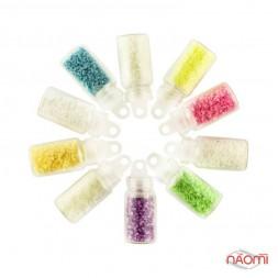 Набор декора для ногтей, песок флуоресцентный, в наборе 10 шт.