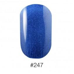 Лак Naomi 247 Aurora синий с лазурно - голубыми шиммерами, 12 мл