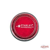 Блискітки імпреза Starlet Professional, з пісочним ефектом, в баночці, колір червоний