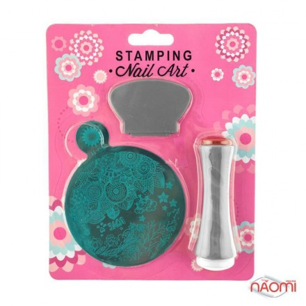 Набор для стемпинга Stamping Nail Art SG 11 (K-174), штамп, скрапер и пластина, фото 1, 80.00 грн.