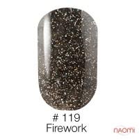 Гель-лак Naomi 119  Firework переливающийся серебристо – чёрный блеск , 6 мл