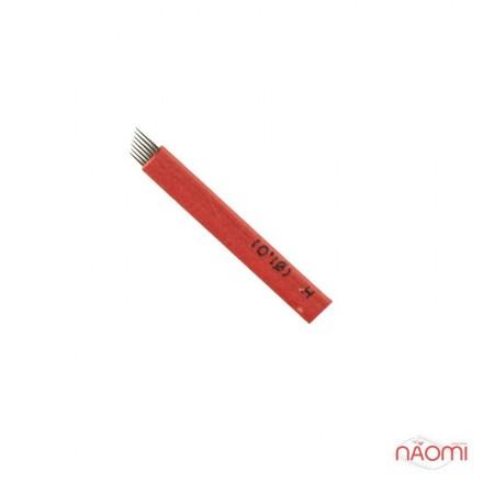 Игла для микроблейдинга 7 контактов 0,25 мм, красная, фото 1, 24.00 грн.