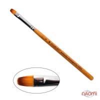 Кисть для геля Starlet Professional Kolinsky № 8, овальная, с деревяной ручкой, искусственный ворс