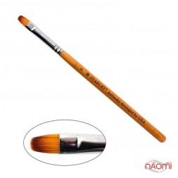 Пензель для гелю Starlet Professional Kolinsky № 8, овальний, з дерев'яною ручкою, штучний ворс