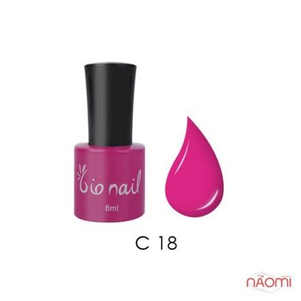 Гель лак BioNail C 018 Hot Pink ярко-розовый, эмалевый, с флуоресцентным эффектом, 8 мл, фото 1, 194.00 грн.