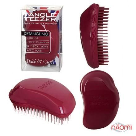 Расческа Tangle Teezer Original Thick & Curly , цвет бордовый, фото 1, 390.00 грн.