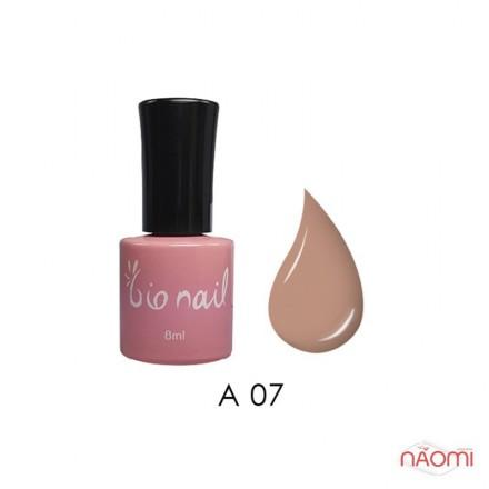 Гель лак BioNail A 007 Pinkberry розовый с легким телесным оттенком, эмалевый, 8 мл, фото 1, 194.00 грн.