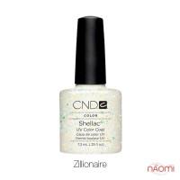 CND Shellac Zillionaire прозрачный с крупными блестками, 7,3 мл