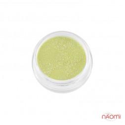 Акриловая пудра My Nail № 014, цвет салатовый с блестками, 2 г