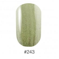 Лак Naomi 243 Aurora фисташковый с салатовыми шиммерами, 12 мл