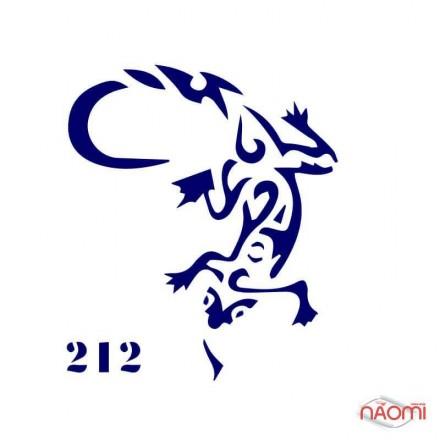 Трафарет для временного тату Креативные и стильные №212 6х6 см, фото 1, 5.00 грн.