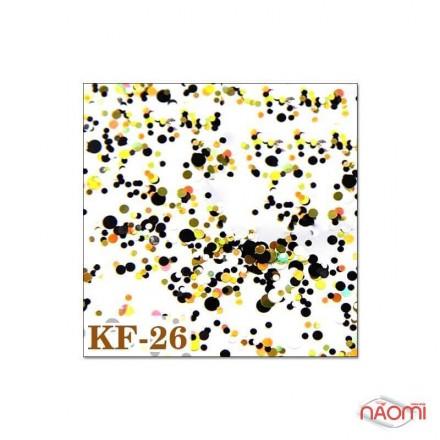 Декор для ногтей конфетти (камифубуки) KF 026, фото 1, 12.00 грн.