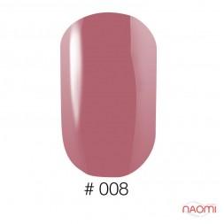 Лак Naomi 008 приглушенный розовый, 12 мл