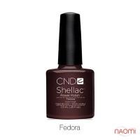 CND Shellac Fedora темный коричневый, 7,3 мл