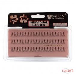 Пучковые ресницы Salon Professional, MEDIUM средние, черные