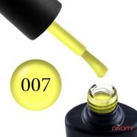Гель-лак NUB 007 Yellow Sensation яркий лаймовый, 8 мл