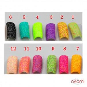Декор для нігтів цукровий мармелад (меланж) № 01, колір рожево-салатовий, 1 г