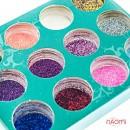 Набор декора для ногтей, блестки в баночке, 12 шт., фото 2, 85.00 грн.