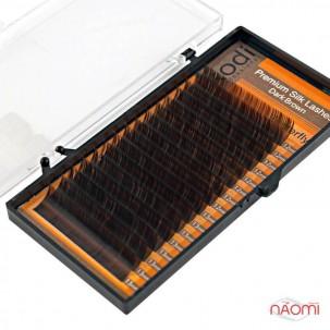 Вії Kodi professional B 0.07 (16 рядів: 12-13 мм), темно-коричневі