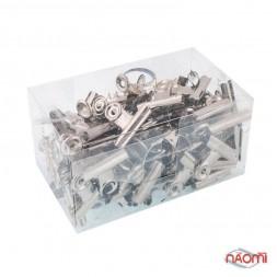 Упаковка прищіпок для затискання нігтів (металева велика)