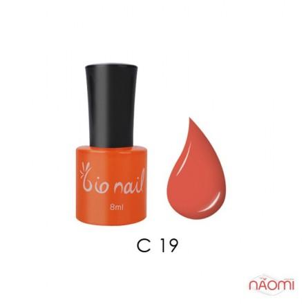 Гель лак BioNail C 019 Fluorescense Orange оранжевый, эмалевый, с флуоресцентным эффектом, 8 мл, фото 1, 194.00 грн.