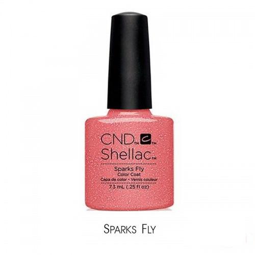 CND Shellac Flirtation Sparks Fly искрящийся коралловый, 7,3 мл, фото 1, 339.00 грн.