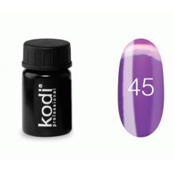 Гель-краска Kodi Professional 45, цвет фиолетово-розовый, 4 мл