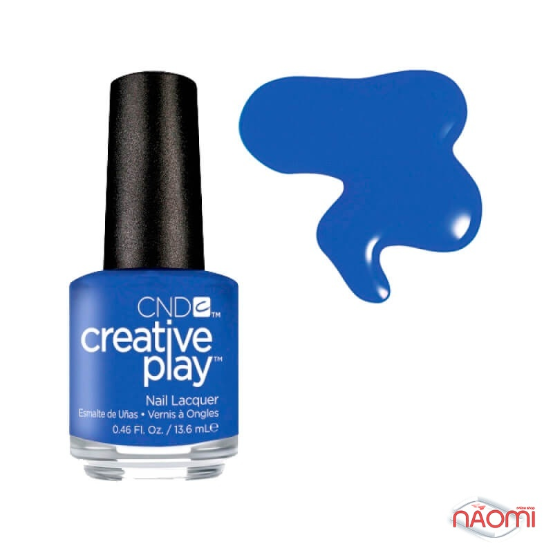 Лак CND Creative Play 440 Royalista, синий, 13,6 мл, фото 1, 129.00 грн.