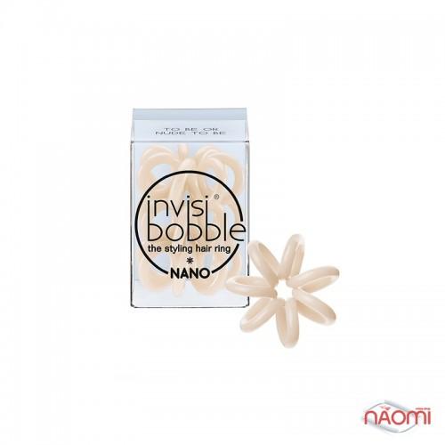Резинка-браслет для волос Invisibobble NANO To Be or Nude to Be, цвет бежевый, 20х3 мм, 3 шт., фото 1, 149.00 грн.