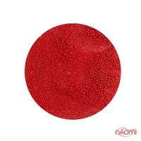 Бульонки для украшения ногтей пластиковые, цвет красный матовый, в пакетике, 2,5 г