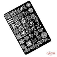 Пластина пластиковая для стемпинга Kodi Professional К 12 9,5х14,5 см