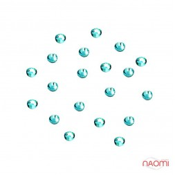 Декор для нігтів, стрази №38 Стрази блакитні 1,5 мм 100 шт.