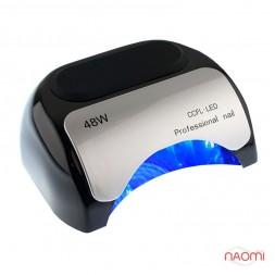 УФ LED+CCFL лампа для гель-лаков и геля 48W, с таймером 10, 20 и 30 сек., цвет черный