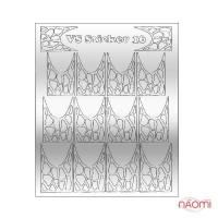 Металізовані наклейки № 16 плями, колір срібло