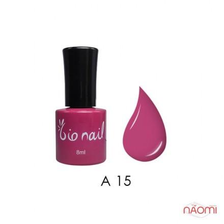 Гель лак BioNail A 015 Violet Pink малиново-лиловая фуксия, 8 мл, фото 1, 194.00 грн.