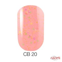 Гель-лак Naomi Candy Bar 020 розово-персиковый, с конфетти, 6 мл
