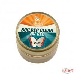 Гель F.O.X. строительный UV Builder Gel Clear 3-Phase прозрачный, 15 мл